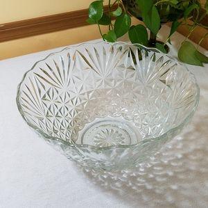 Large Glass Bowl, Vintage